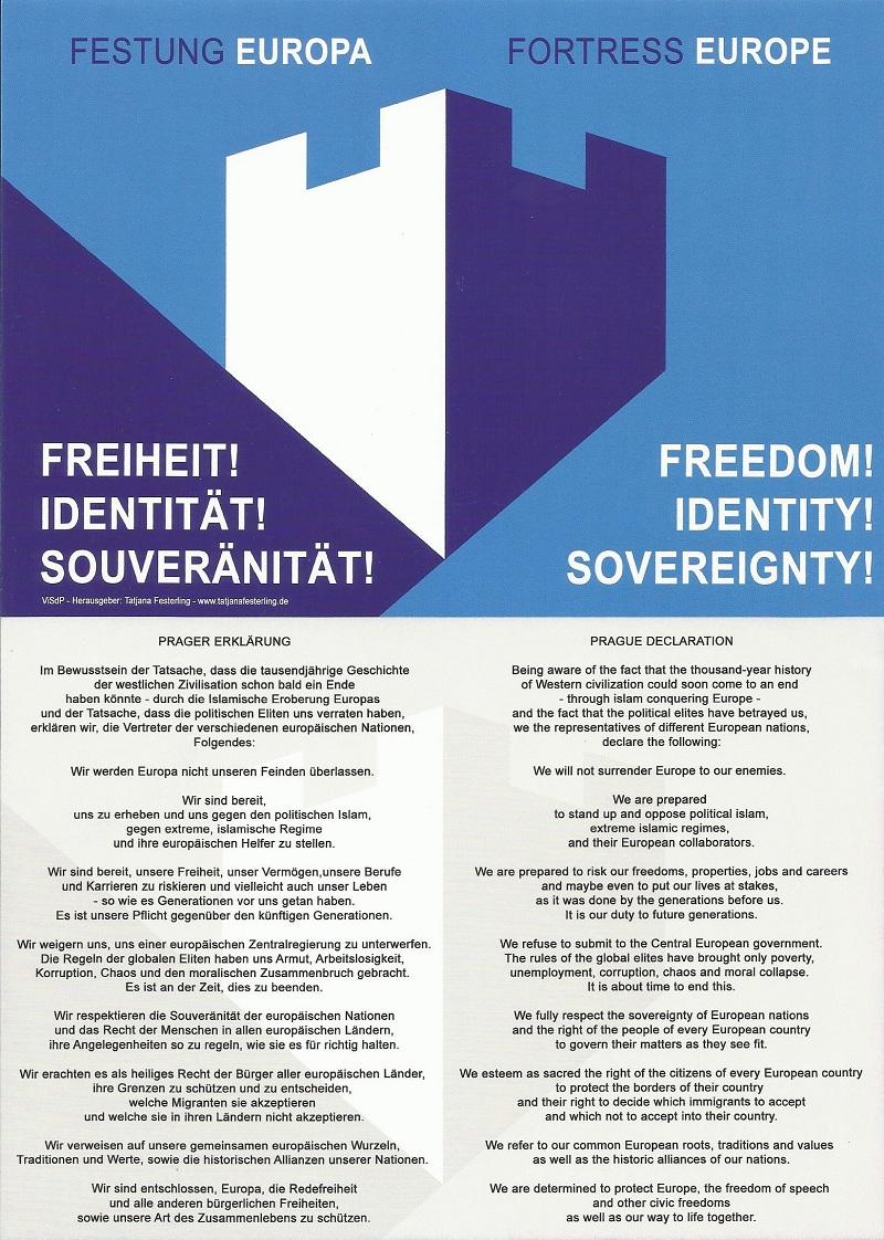 Fortress Europe Logo Declaration Voinski syiuz Vasil Levski
